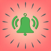 Ring bell icon. — Stock Vector