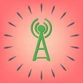 Tower Wifi-ikonen — Stockvektor