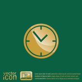 Ícone de relógio relógios — Vetor de Stock