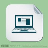 Notebook laptop icon. — Stock Vector