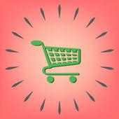 Shopping cart icon. — Stock Vector
