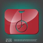 Retro bicycle icon — Stock Vector