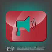 Loudspeaker, Volume icon . — Stock Vector