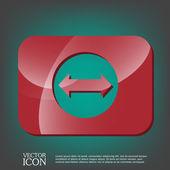 Web arrow icon — Stock Vector
