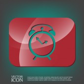 Clock shows the time — Stock Vector