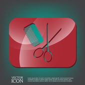 Symbool van de kapper en schoonheidssalon — Stockvector