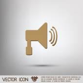 Loudspeaker, Volume icon — Stock Vector