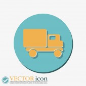 Truck. Logistic icon — Stock Vector