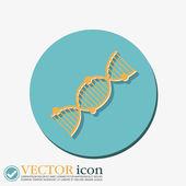 DNA sarmalı. tıbbi araştırma karakter. — Stok Vektör