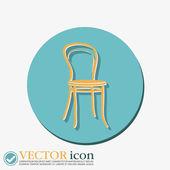 椅子のアイコン。シンボル家具 — ストックベクタ