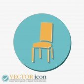 Chair icon. symbol furniture. — Stock Vector