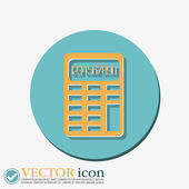 Calculator. office sign — Stock Vector