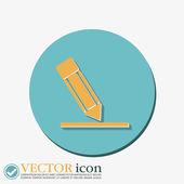 Kalem ve kağıt yazma bir sayfada — Stok Vektör
