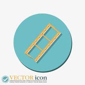 Symbol of cinema, celluloid — Stock Vector