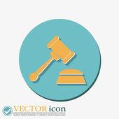 Gavel. icon law. — Stock Vector