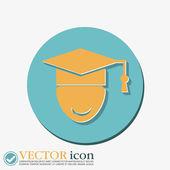 Lisansüstü şapka avatar. — Stok Vektör