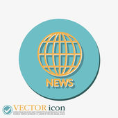 Globe symbol. news. — Stock Vector