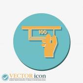Money ATM. symbol issuing — Stock Vector