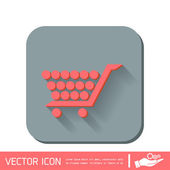 Icona di carrello dello shopping. — Vettoriale Stock