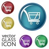Shopping cart icons — Stock Vector