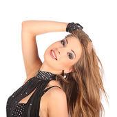 Sexy young woman go-go dancer with long legs — Foto de Stock