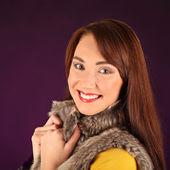 Portret piękne sexy dziewczyna nosi ubrania mikołaja — Zdjęcie stockowe