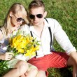 Attractive couple on a date — Stock Photo #52909493