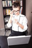 Young student working. — Stock Photo
