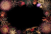 Frame of firework celebration at night — Stock Photo