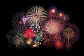 Fireworks Celebration at night — Stock Photo