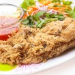 Постер, плакат: Crispy catfish spicy salad