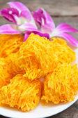 Golden threads, Thai dessert. — Stock Photo