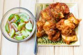 Fried fish cake with squid (Tod Mun). — Stock Photo