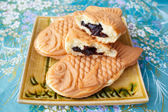 Japonais traditionnel gâteau en forme de poisson, Taiyaki. — Photo