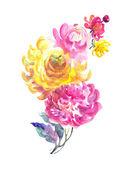 Beautiful flowers garland — Stock Photo