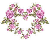 Floral heart shaped frame — Stockfoto