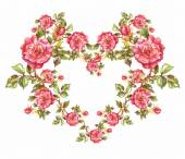 Floral heart shaped frame — Fotografia Stock