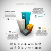 Infográfico de negócios — Vetor de Stock