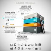 Business infographic — Stockvektor