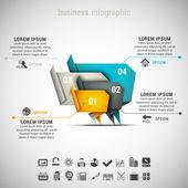 Iş infographic — Stok Vektör