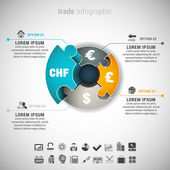 Trade Infographic — Stock Vector