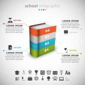 School Infographic — Stock Vector