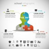 Escuela infographic — Vector de stock