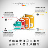 Shopping infographic — Stock Vector
