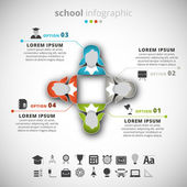 Escola infographic — Vetor de Stock