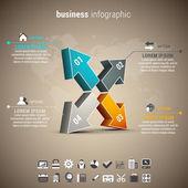 Business-Infographik — Stockvektor