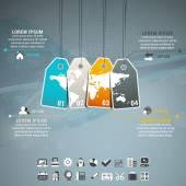 Деловая инфографика — Cтоковый вектор