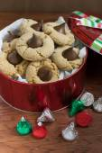 Peanut Butter Blossom Cookies — Stock Photo