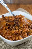 Baked Beans in a bowl — Stock Photo