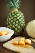 Cantalope and Pineapple — Stock Photo